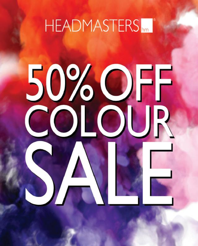 headmasters 50% colour sale