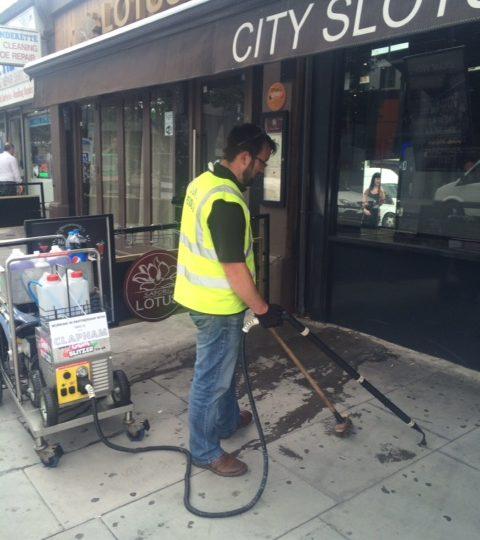 gum removal on clapham high street